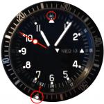 KW an der Lynette der Uhr ablesen